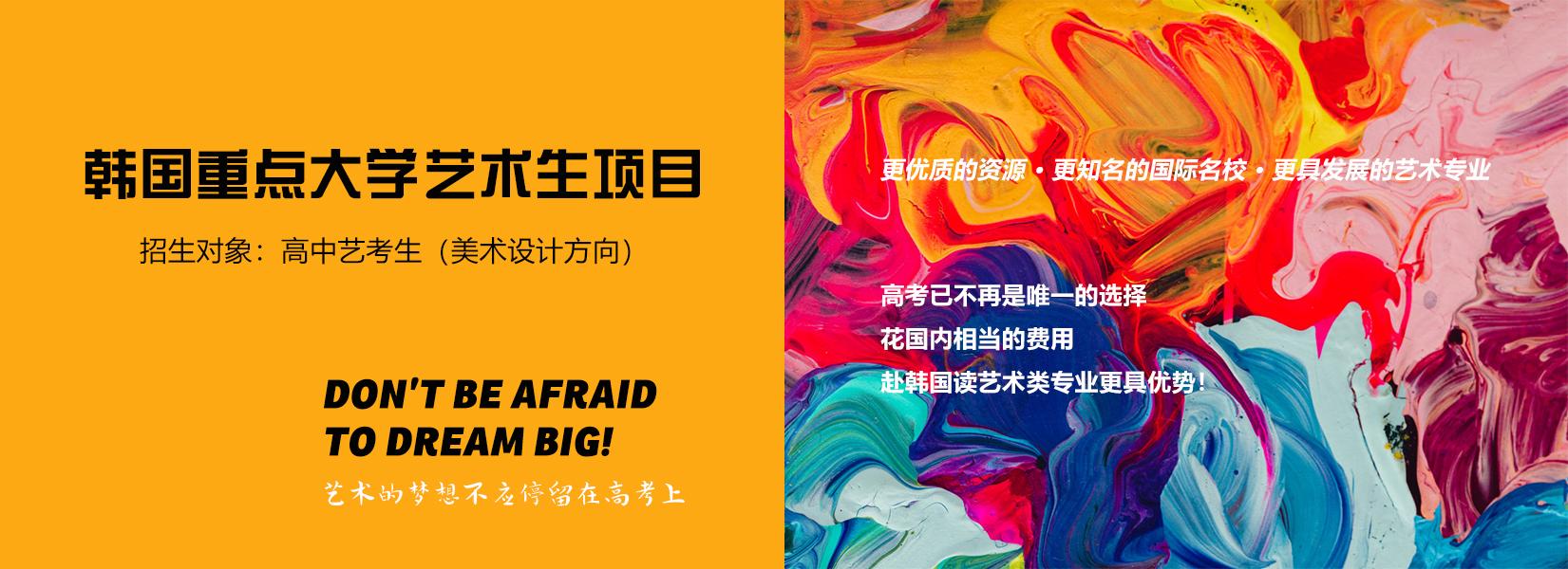 韩国重点大学艺术生项目